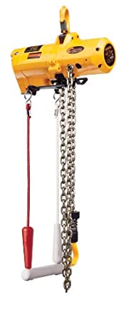 "Harrington Cheetah TCS Cord Model Air-Powered Hoist, Hook Mount, 1/4 Ton Capacity, 10' Lift, 121 fpm Max Lift Speed, 16-1/3"" Headroom, 1"" Hook Opening, 1/2"" NPT, 90 psi"