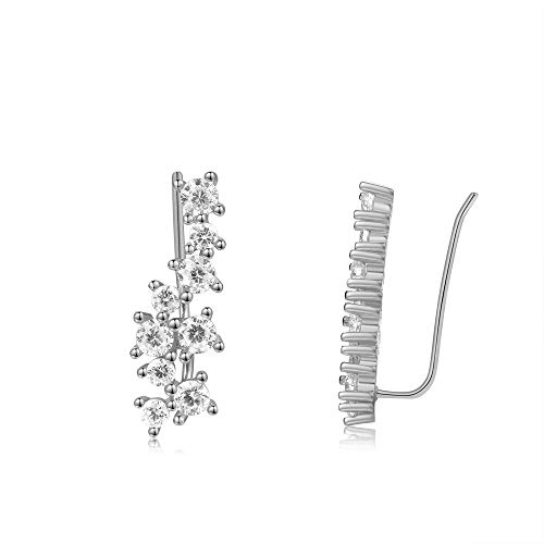 (Shining Star Clusters Ear Climbers Sterling Silver Ear Pin Crawlers)