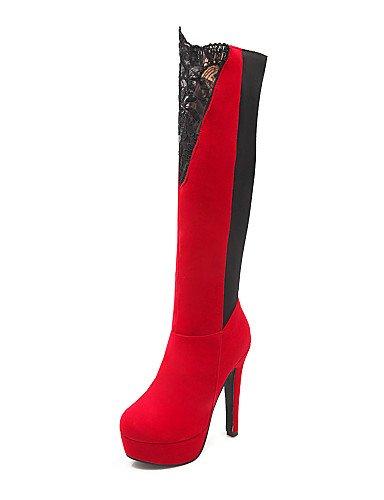 La Casual Zapatos Redonda 5 De Mujer Eu42 Red us8 Moda Tacón 5 Xzz Vellón A 5 Vestido Uk6 5 Stiletto Black us10 Cn43 Botas Rojo Uk8 Encaje Punta Cn Cn40 Negro Eu39 qz7dwxY