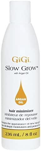 GiGi Slow Grow Hair Inhibitor Lotion with Argan Oil - Hair Regrowth Minimizer, 8 oz