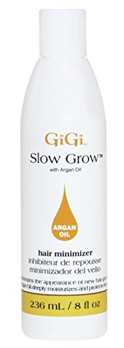 Slow Hair Growth (Gigi Slow Grow Lotion with Argan Oil, 8 Ounce)