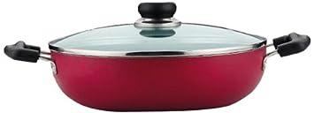 Vinod Cookware Zest Non-Stick Induction Friendly Kadai with Lid, 3.4 litres Kadhai & Woks at amazon