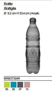 Baci Acrylaat Water Bottle, Acrylic, Green, 9.2 x 9.2 x 33.4 cm