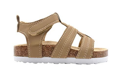 Revo Toddler Boys Footbed Sandal Size 5-6 M US Kids Adhesive Strap Slide Shoe ()