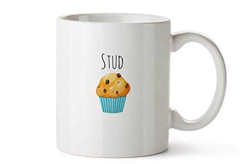 Stud Muffin Mug, Cute Mug, Stud Muffin, White Mug, Coffee Mug, Hand Crafted Mug, Mug, Gift for Everyone, Stud, Muffin, Fun, Love, 11oz, 15oz, gift (Everyone Gift Basket)