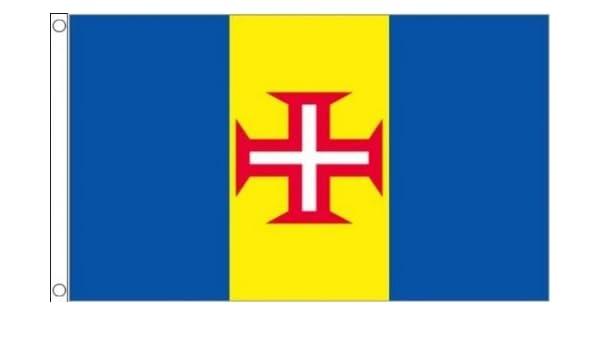 Portugal Madeira 152, 4 cm x3 (150 cm x 90 cm) bandera: Amazon.es: Jardín