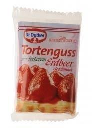 Dr Oetker Tortenguss rot, Erdbeer (red strawberry cake glaze) 36g / 1.27oz