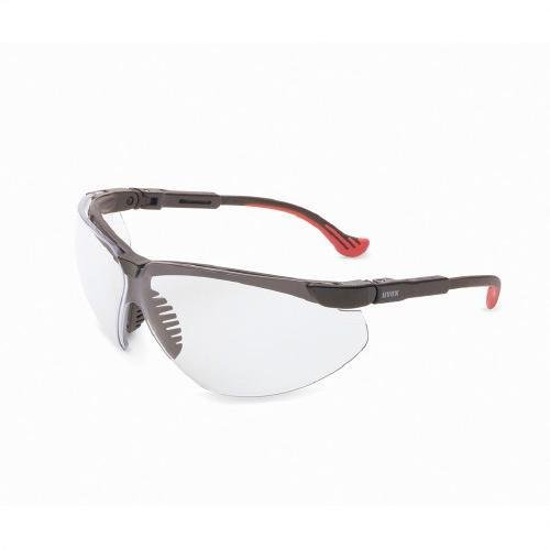 Uvex S3302 Genesis XC Safety Eyewear, Black Frame, SCT-Reflect 50 Ultra-Dura Hardcoat Lens