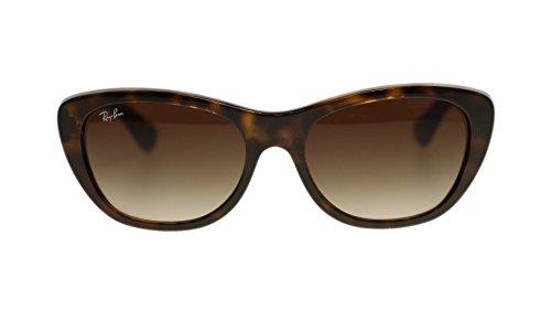 Ray Ban Women Sunglasses RB4227 710/13 Light Havana Brown Lens Square 55mm Authentic ()