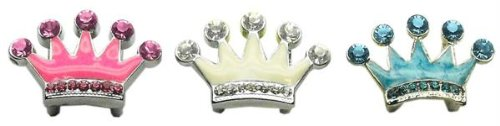 Crown Pet Charm (Mirage Pet Products Slider Enamel Crown Charm for Pets, 3/8-Inch,)