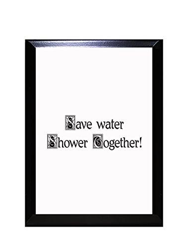 save water shower together sign - 7