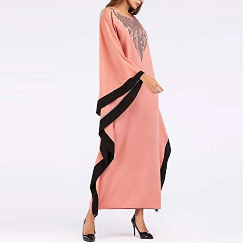 Morbido Medio Oriente Dubai Stile Rosa Abito Chyedas Maxi Musulmano Cocktail BdCxoe