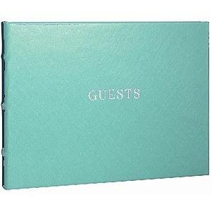 Our bound eco-leather AQUA Guest Book for a lasting record by Graphic Image - by Graphic Image