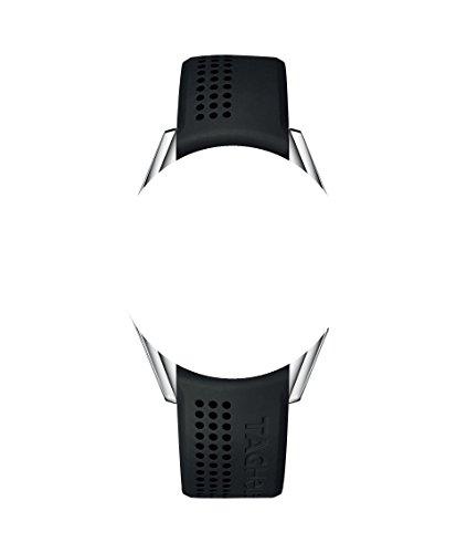 Correas de reloj de silicona 20/18 mm, color negro con logotipo de Tag Heuer, para Tag Heuer: Amazon.es: Relojes