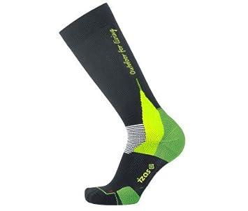 Izas Drain - Calcetines de montaña unisex, color negro/verde claro, talla 44