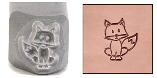 Fox Metal Design Stamp, 7mm Forest Animal Wildlife Punch Stamping Tool for Hand Stamped DIY Jewelry Crafts - Beaducation Original Metal Design Stamps