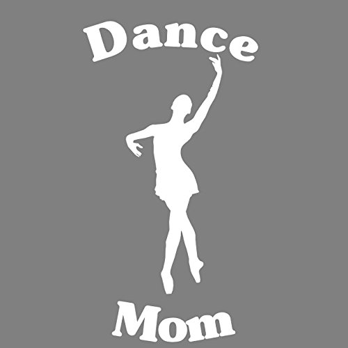 Conga Dance Costumes (DANCE MOM Decal - White Transfer Ballerina Dance Mom Vinyl Sticker Transfer - Dance Mom Bumper Sticker - Dance Decal - Perfect Dance Mom Gift - Made in the USA)