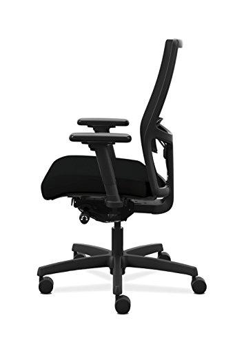 HON 2.0 Adjustable Lumbar Work - Black Mesh Chair Desk, Black