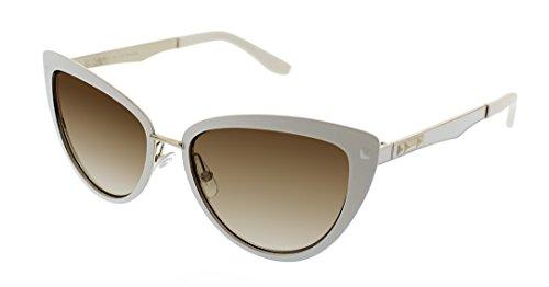 BCBGMaxazria Women's Seductive Cateye Sunglasses, White, 43 - Sunglasses Bcbgmaxazria