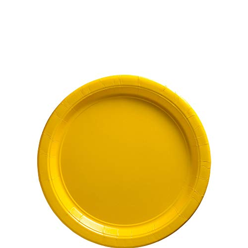 (Amscan 640013.09 Yellow Sunshine Big Party Pack Paper Plates, 7