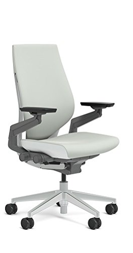 Steelcase Wrapped Back Gesture In Nickel Fabric, Light