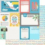 Scrapbook Customs - Tropical Excursions Collection - 12 x 12 Double Sided Paper - Mazatlan - Journal