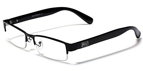 Rectangular Half Frame Reading Glasses Fashion Designer - Half Glasses Frame Frame Or Full