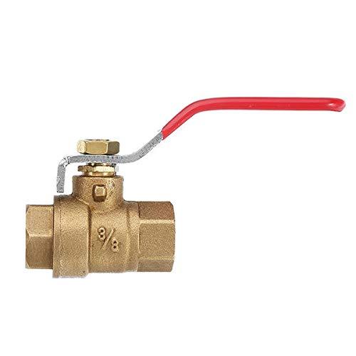 Npt Diverter - OKIl DN10 3/8 Inch NPT Female Straight Full Brass Ball Valve Water Diverter Adapter