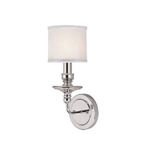 Lighting Sconce Candle Tall - Capital Lighting 1231PN-451 Wall Sconce with White Fabric Shades, Polished Nickel Finish