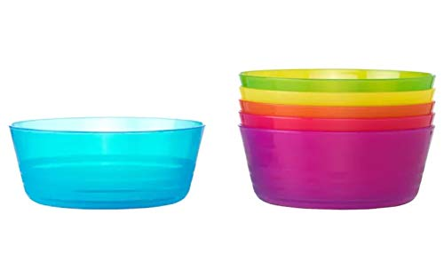Ikea Kalas 301.929.60 BPA-Free Bowl, Assorted Colors, 6-Pack (Pink Microwaveable Bowl)