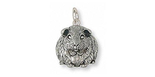 Guinea Pig Jewelry Sterling Silver Guinea Pig Charm Handmade Piggie Jewelry GP1-C
