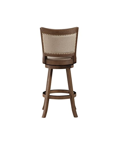 Boraam 76529 Melrose Bar Height Stool 29 Inch Driftwood