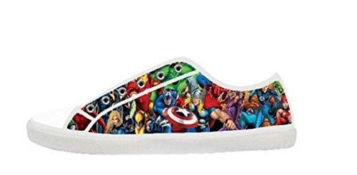 Wowarts Custom Marvel Comics Avengers Canvas Shoes for Women