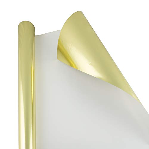 - JAM PAPER Gift Wrap - Metallic Wrapping Paper - 25 Sq Ft - Gold Foil - Roll Sold Individually