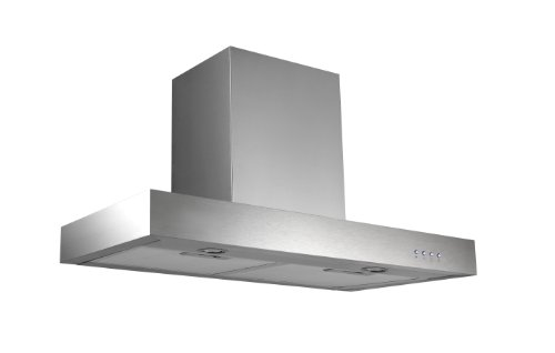 Ancona Rectangle Stainless Steel 450 CFM Wall Mount Range Hood, 30-Inch