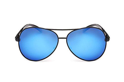 Hombre Sol Gafas Para UV400 Gafas Con Polarizadas De Sol Gunmetalgoldsilver De Reflejos Metálicos Para Pesca wTRRxIa1