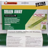 - Frost King DE200 8' Plastic Drain Away For Downspouts