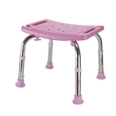 シャワースツール\シャワーチェア バスルームスツールアルミシャワーチェア障害援助ノンスリップバスチェア、高齢者、身体障害者、妊婦、高さ調節可能 バスシートベンチ\バススツール B07DXQTCD5