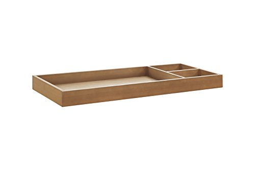 Ash Wide Table - Nursery Works Universal Wide Removable Changing Tray, Stained Ash/Ivory