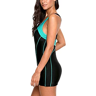 ATTRACO Women's Athletic One Piece Swimsuit Sports Racerback Training Swimwear: Clothing