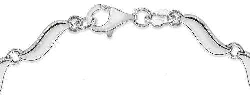 Tuscany Silver Fine Necklace Bracelet Anklet Argent 925/1000 19 Centimeters