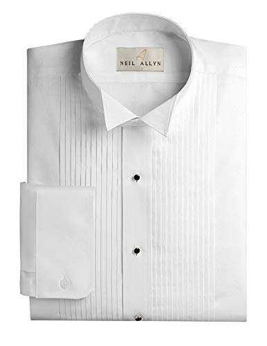 Wing Tuxedo Shirt - Neil Allyn Men's SLIM FIT Wing Collar 1/4