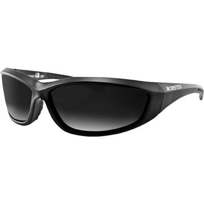 Bobster Charger Motorcycle Cruiser Sunglasses - Black/Smoke / One Size Fits All