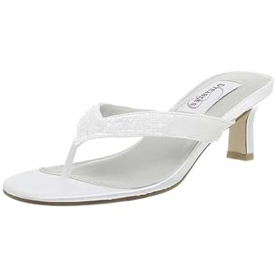 Dyeables Women's Eden Dyeable Sandal,White,7 M