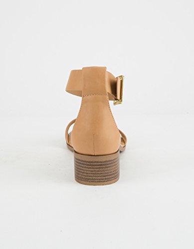 Città Classificata Cinturino Semplice Cammello Con Tacco Sandalo Cammello