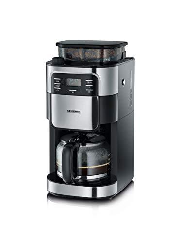 SEVERIN KA 4810 Cafetera automática con Molinillo para Café Molido o en grano temporizador desconexión automática 10…