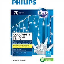 Christmas Lights LED Indoor/outdoor Cool White Mini Icicle Lights