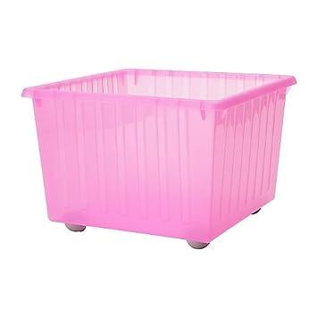 les ventes chaudes 34618 706fa IKEA VESSLA - caisse de rangement avec roulettes, rose clair ...