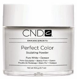 Creative Nail Perfect Color Powder False Nails, Pure White, 3.7 Ounce