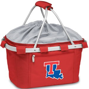 NCAA Louisiana Tech Bulldogs Embroidered Metro Basket, One Size, Red